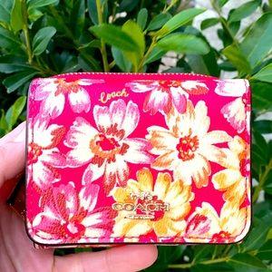 🌼🌺🆕Coach Wallet With Vintage Daisy Script Print
